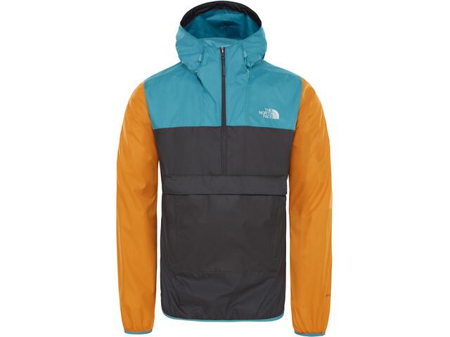 The North Face Fanorak Veste Homme, asphalt grey/storm blue/citron yellow